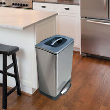 Trash Compacting Kitchen Garbage Can - Hand Powered Compactor Foot Pedal Open