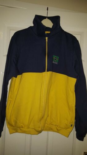 amp; Yellow Dark brasil Mens Sleeved M Blue Brazil Jacket Long Football xBq8R