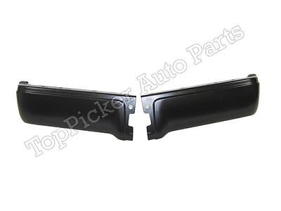 FOR 2009-14 FORD F150 STYLESIDE REAR BUMPER END CAP BLACK WITH SENSOR HOLE SET