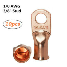 10pcs Car Audio 1//0 Gauge AWG Copper Wire Cable Ring Terminal Joint Connector