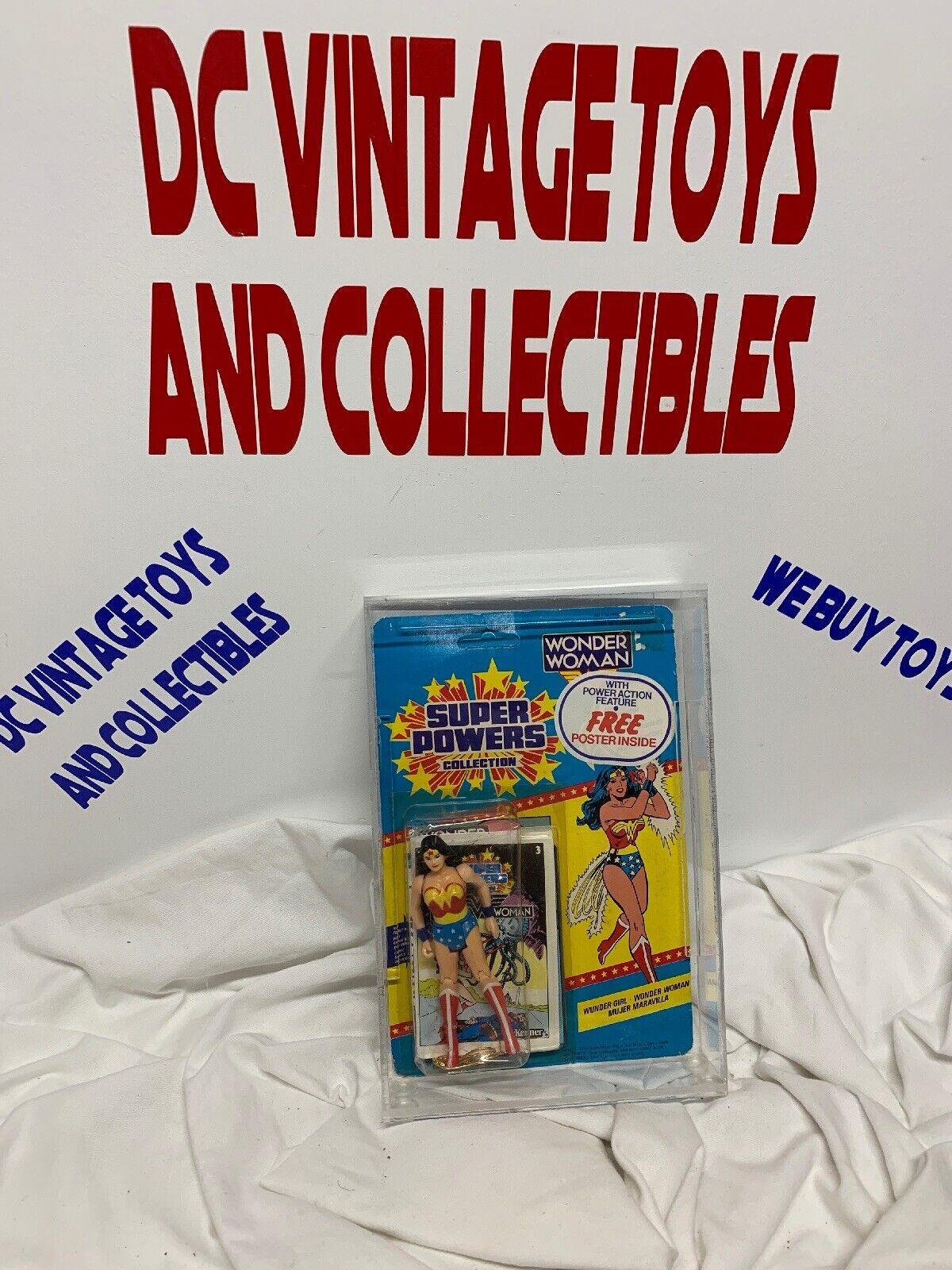 Super Powers Vintage Kenner 1984 Trilinguals  Wonder Frau Free Poster Inside