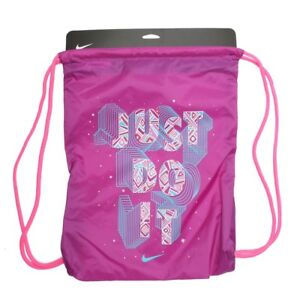6586b47588b4 Nike Logo Draw String Bag Gym Bag Gym-sack - BZ9756-564 - Purple ...
