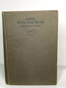 Vintage Antique 1st Edition 1st September Printing 1936 Gone With The Wind Book