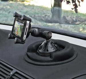 Ram Cell Phone Suction Cup Car Mount W Friction Dashboard