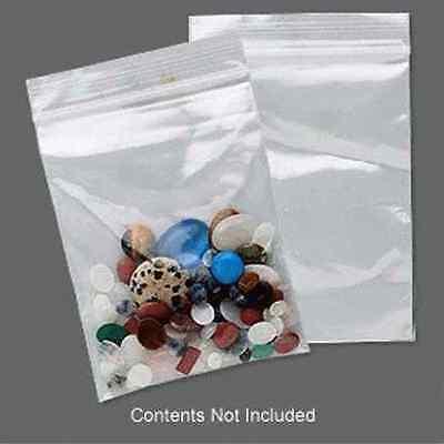 100 Plastic Ziplock Bags 4x3 ALL Clear 2 Mil