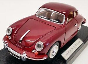 Coleccionables-superior-escala-1-24-SS7721W-1961-Porsche-356b-COUPE-ROJA