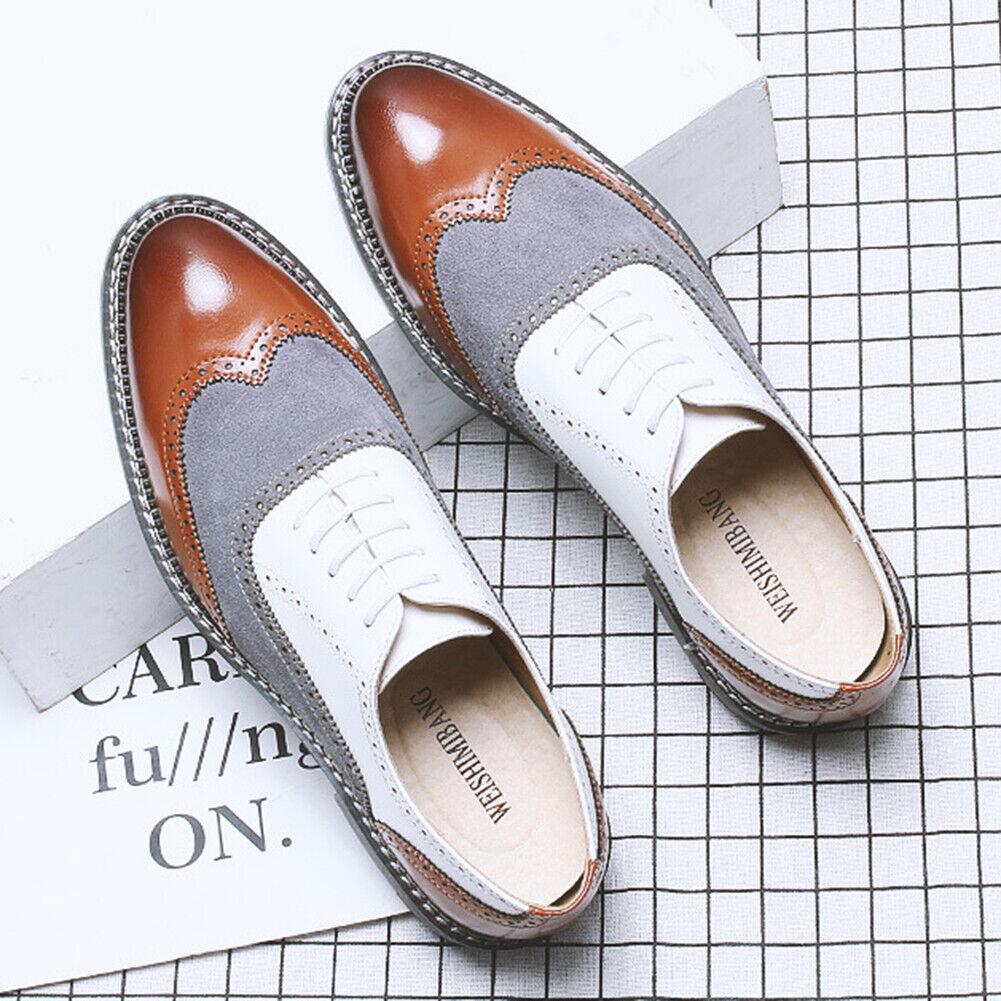 Homme Derbies Business Robe Formelle Cuir Chaussures Richelieu à bout d'aile Lacets Mocassins