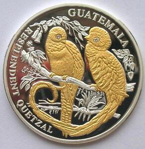 Image Is Loading Liberia 2005 Guatemala Quetzal 10 Dollars Diamond Silver