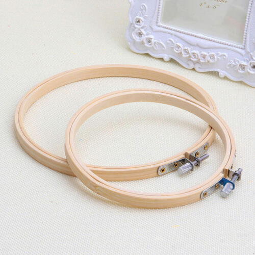 Wooden Cross Stitch Tool Embroidery Hoop Ring Frame Sewing Needle Craft DIY Kids
