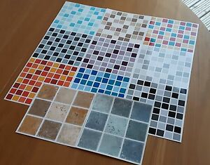 Image Is Loading Self Adhesive Mosaic Tile Transfers Stickers Bathroom Kitchen