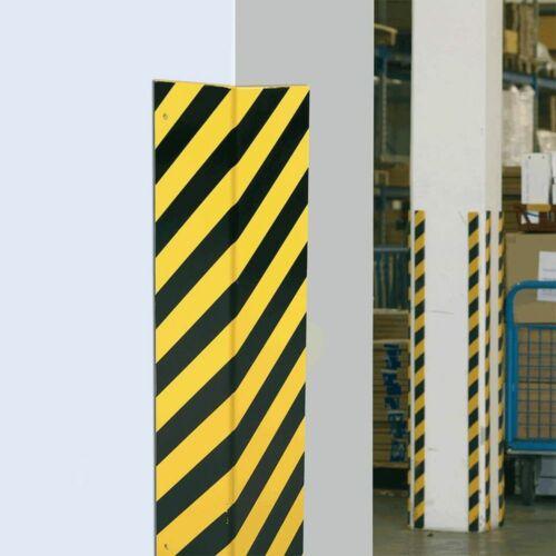 100x10 cm Aufdübeln Schutz vor Anfahrschäden Eckschutzwinkel 90° gelb//schwarz