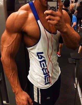 NPC-Men-Bodybuilding-Tank-Top-Gold-GYM-Vest-Muscle-Shirt-Stringer-Racerback zyz