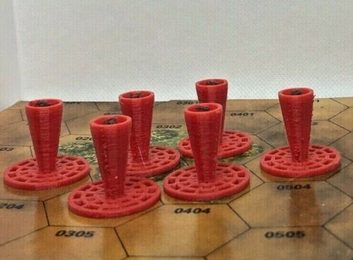 Battletech Objective Markers Numbered 1-6
