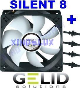 VENTOLA-per-CASE-COMPUTER-PC-80mm-GELID-SILENT-8-FAN-80-x-25-GOMMINI-3-PIN-12V