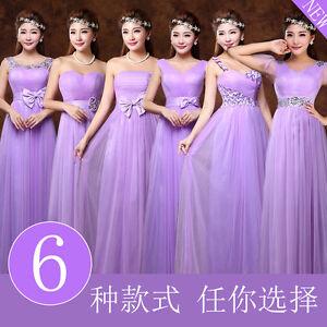 Purple-Long-Evening-Prom-Dress-Wedding-Bridesmaid-Dress-Bowknot-Flower-C352
