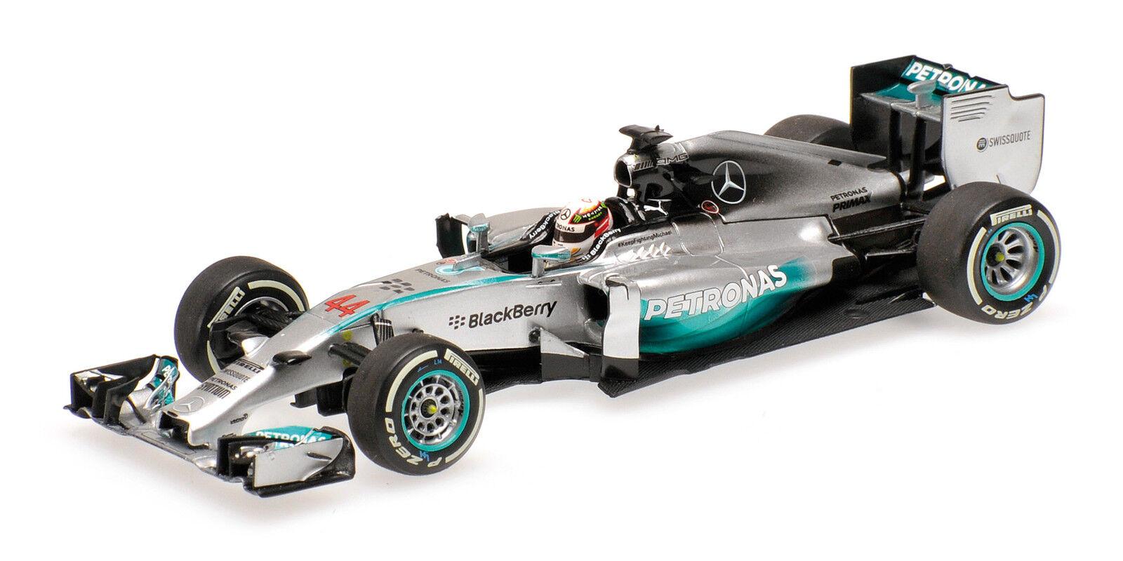 Mercedes AMG f1 team w05 Hamilton Winner Bahreïn 2014 World Champion 2014 1 43