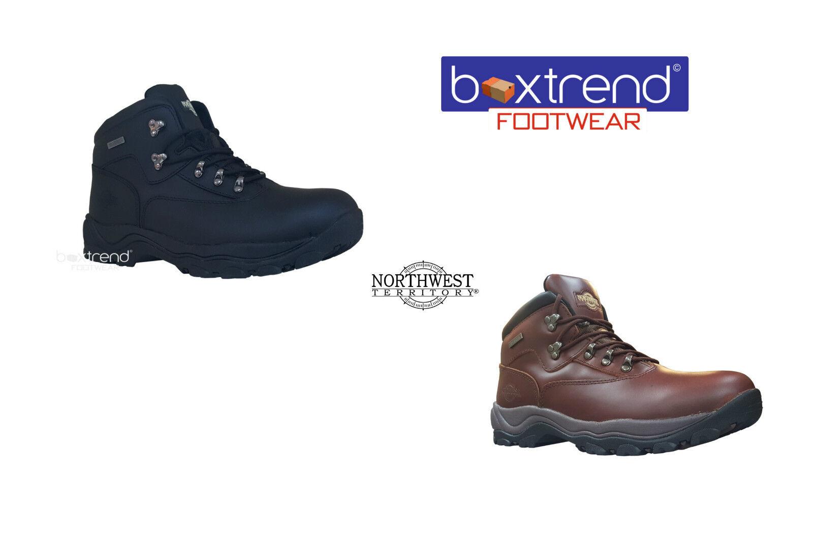 NUOVA linea uomo Northwest Territory Inuvik In Pelle Hiking Boots Impermeabile Trek Scarpe