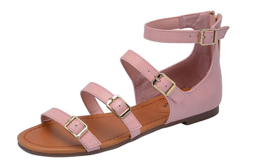 New Breckelles Indio 31 Blush Strappy Sandals Slides 5.5-10 USA