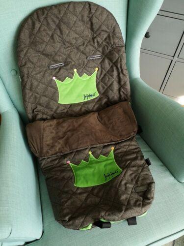 Jujejoo Fußsack für Kinderwagen Buggy Übergang braun grün NEU