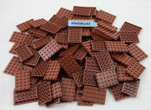 LEGO 4x6 Reddish Brown Plates 3032 Baseplate Base Flat Bulk Lot Town Castle