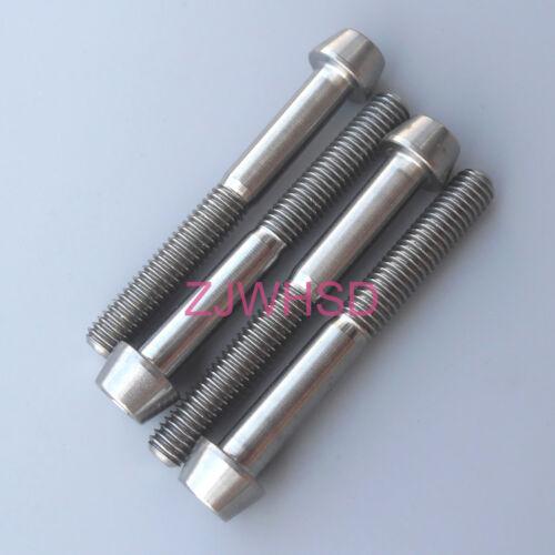 4pcs M5x40 Titanium Ti Screw Bolt Allen hex Taper Socket Cap head//AerospaceGrade
