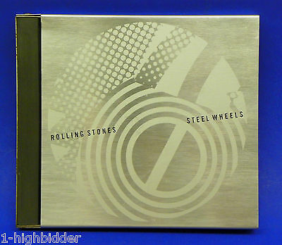 1989 ROLLING STONES Promotional Promo Stainless Steel Wheels w/ Metal Case CD