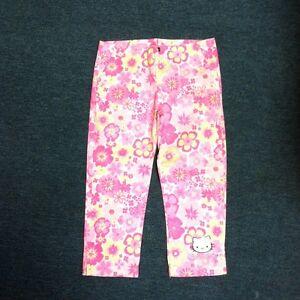 d01dfedf1 Hello Kitty Capri Pants New Size Xl Cat Logo Pink Yellow Buckle ...