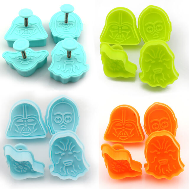 4pcs Star Wars Cake Fondant Plunger Cutter Mould Pie Crust Cookies Decor Mold