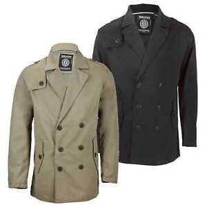 Details zu Mens Double Breasted Formal Overcoat Jacket Smart Casual Short Peacoat Black Tan