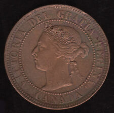 Canada 1900 H Large One Cent KM 7 AU Canadian Coin Victoria