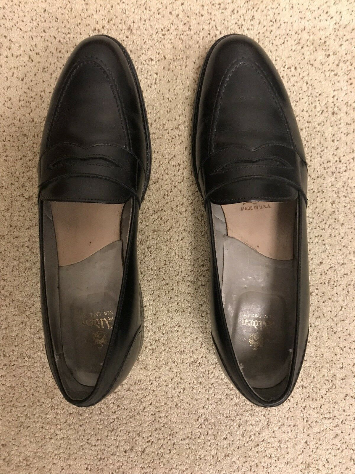 Alden nero Full Strap Slip-on Loafer 11.5 AAAA AA