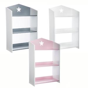 3 Niveaux Étagère de stockage étagère de bibliothèque Enfants Meubles Rangement Unité Rayonnage