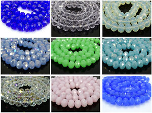 Freeshipping-100Pcs-Top-Quality-Czech-Crystal-Faceted-Rondelle-Beads-9x-12mm