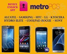 Metro PCS App Unlock Only ! ( Alcatel, Coolpad, LG, HTC, Samsung, Xperia, ZTE )