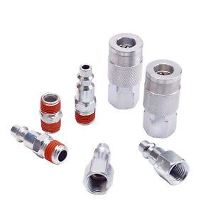 7pc Air Coupler and Plug Kit, 1/4