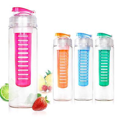 800ML Fruit Fuzer  Infuser Water Bottle Sports Juice Maker Assorted Colour.UK
