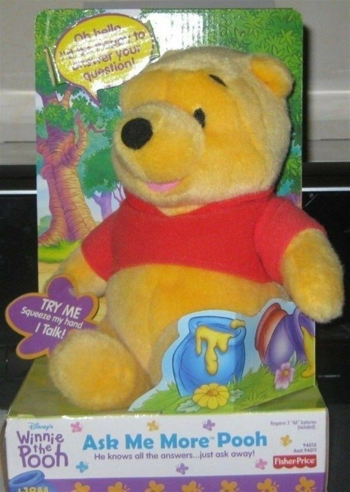 FISHER PRICE - ASK ME MORE POOH  BRAND NEW DATED 2000