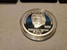 2017 Trump Dollar MAGA 1 oz Silver Capsuled $25 Norfed Proof Round W//OMP//COA