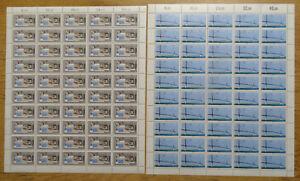 Bund-1321-1322-postfrisch-Bogen-Satz-LUXUS-Formnummer-1-BRD-CEPT-1987-MNH