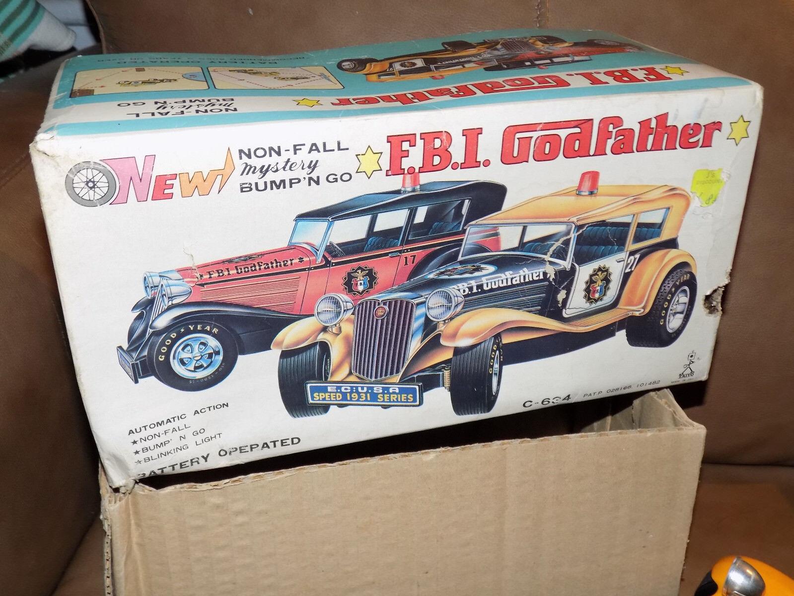 FBI Godfather Bump'N Go Battery Operated Car in Box