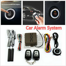 Autos SUV Alarm System PKE Keyless Entry Engine Start Push Button Remote Starter