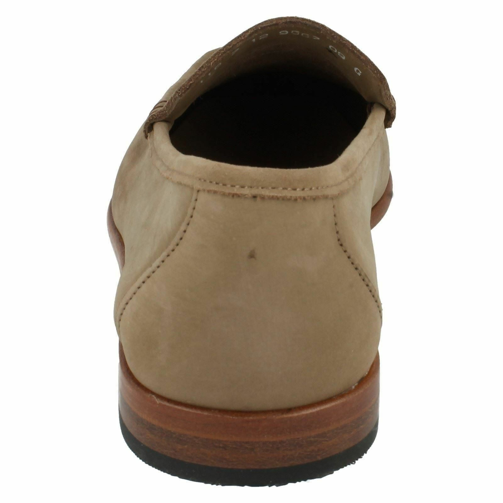 Mens Milano Taupe Nubuck G Fitting Moccasin Shoes By Grenson - £79.99