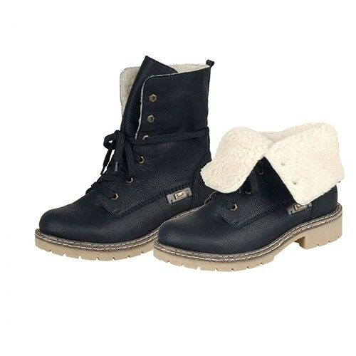 Boots Womens Black Rieker Uk 37 Lined 4 Ankle Lambswool Size gUXqg