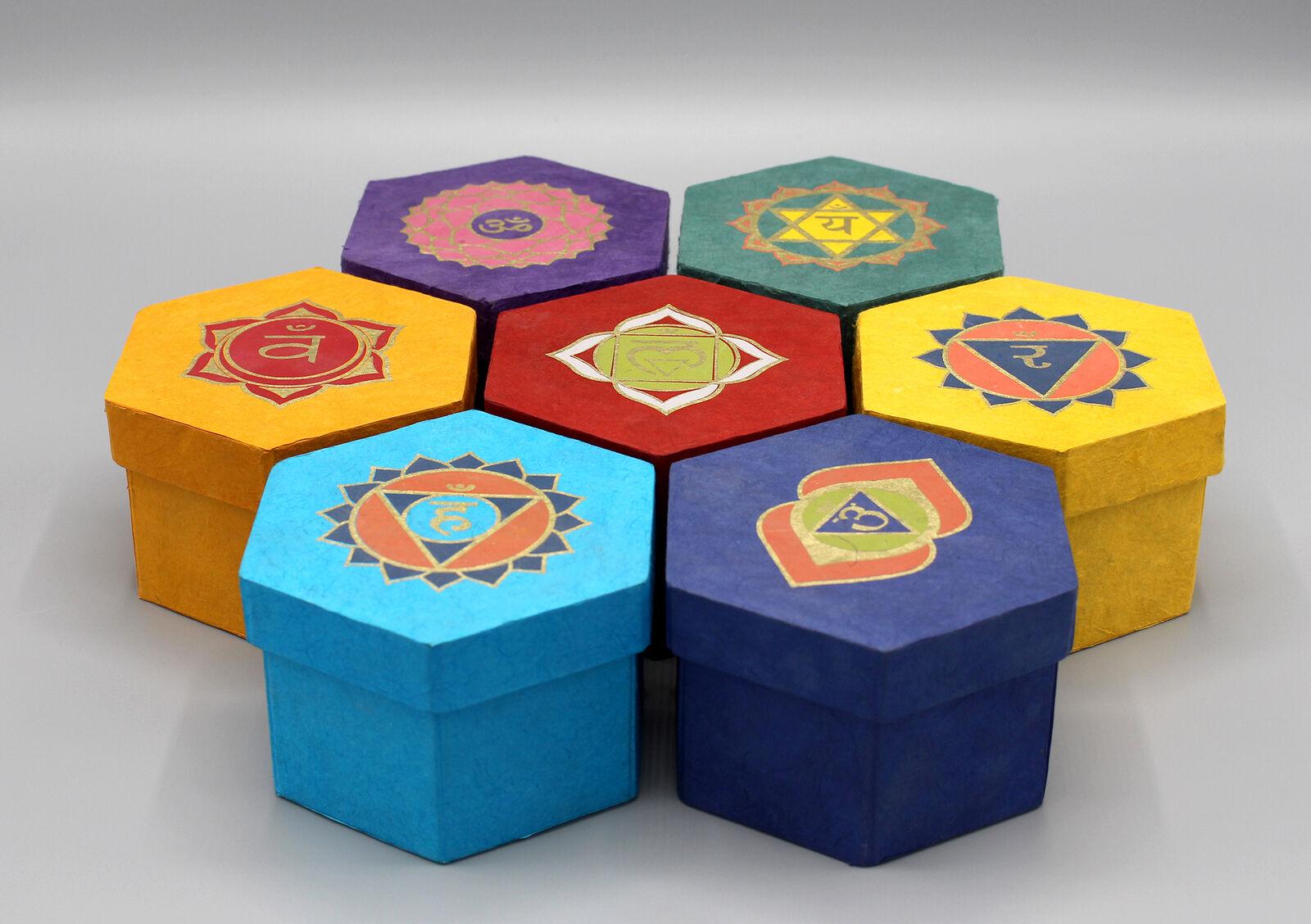 Seven Chakra Healing Bowls Geschenkbox Set