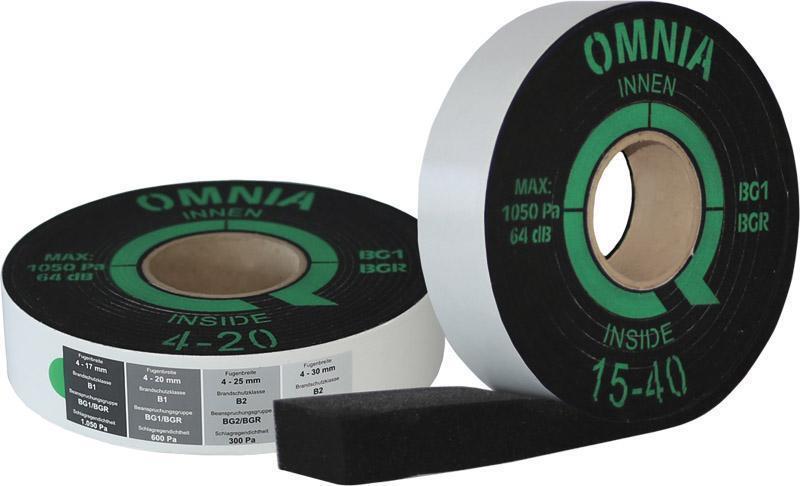 GrünteQ OMNIA BG1 73 / 4-20mm / 8m Kompriband, Quellband für Fenstermontage
