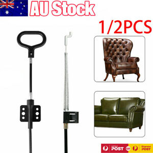 2 Pcs Recliner Handle Replacement Parts Metal Pull with Cable Release Handle for Sofa