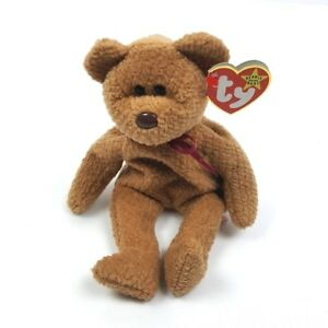 ca70487d589 Image is loading TY-Beanie-Baby-Curly-Teddy-Bear-1993-Tush-