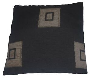 Quality-Black-amp-Wheat-Square-Pattern-Woven-Tapestry-Fabric-Cushion-Cover