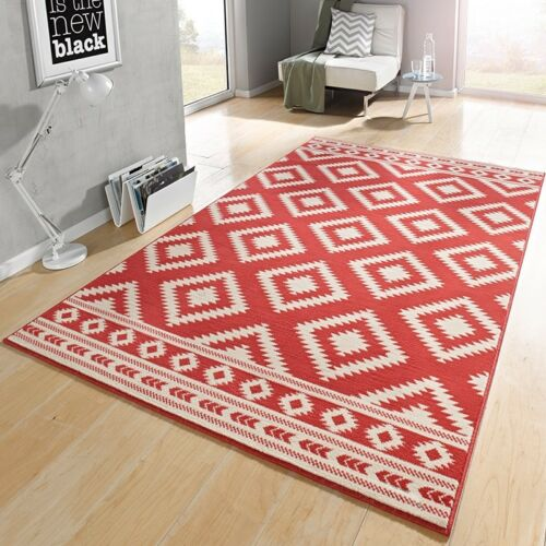 Designer gamuza alfombra ethno coral crema102411