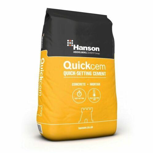 Reparación De Cemento ajuste rápido Hanson quickcem agujero piso paredes de hormigón mortero 25kg